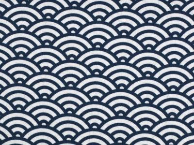 05m BW Kurt Muscheldesign dunkelblau weiß