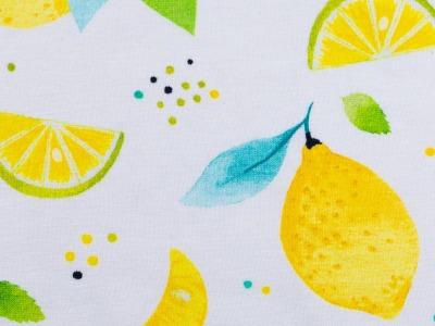 05m Jersey Sun Lemon Zitronen weiß