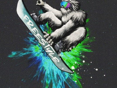 Panel Yeti Crossing by Torsten Berger