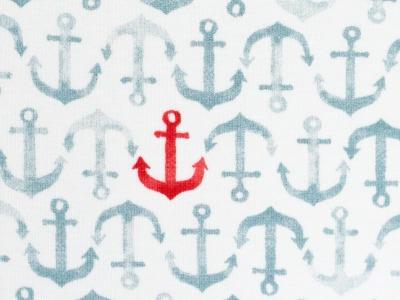 05m Jersey Nautical Baby Anker rauchblau