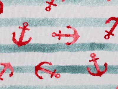 05m Jersey Nautical Baby Anker Streifen