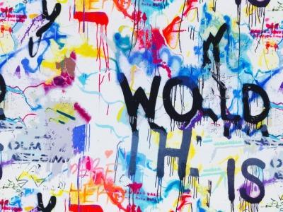 05m Sweat Toronto Graffiti weiß bunt