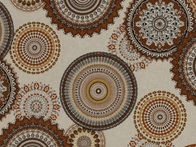 05m Canvas Leinen Look Mandalas Kreise