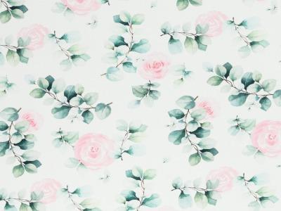 05m Jersey Eukalyptus mit Rosen weiß