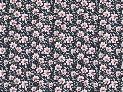 05m Jersey Digitaldruck Federblüte navy rosa