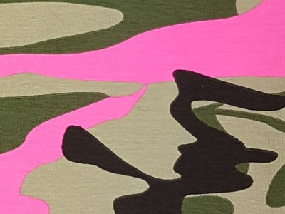 05m Jersey Camouflage khaki taupe neonpink