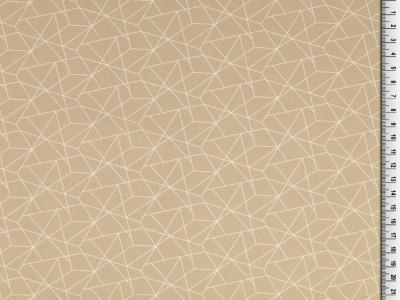 05m BW grafisches Muster Linien beige