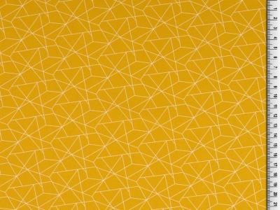 05m BW grafisches Muster Linien senf