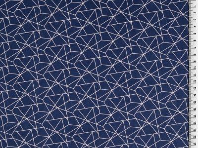 05m BW grafisches Muster Linien navy