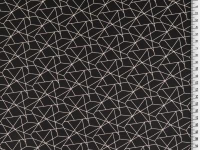 05m BW grafisches Muster Linien schwarz