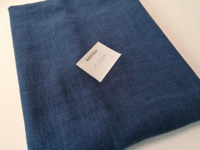 1m Leinen stonewashed dusty blue Reststück