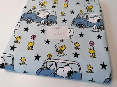 075m Biojersey Snoopy Bus Camper hellblau