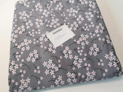 075m Modalsweat Blumengrau weiß