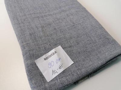09m Musselin Triplelayer jeansblau meliert Reststück