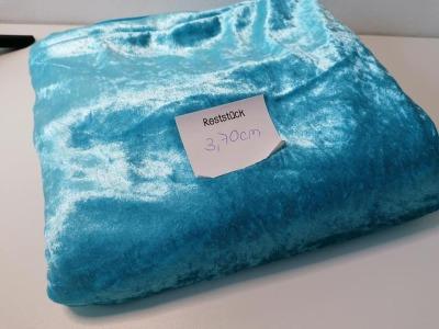 37m Pannesamt helltürkis Eisblau - Reststück