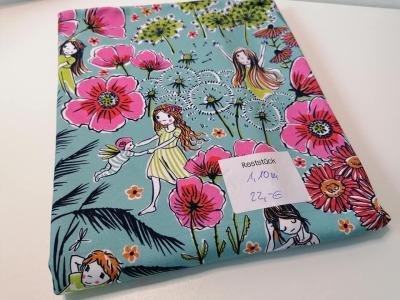11m Bio Jersey Lillestoff Blumen Mädchen