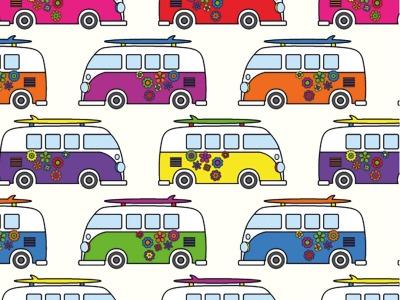 05m Jersey Bus Camper weiß bunt