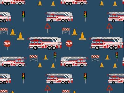 05m Jersey Feuerwehrautos dunkelblau bunt