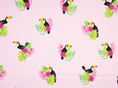 05m Jersey Tukan Blätter rosa bunt