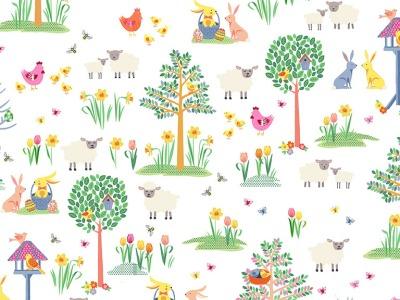 05m BW Spring Garden Osterhase im