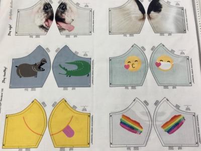 Panel Masken for Kids Baumwolle weitere