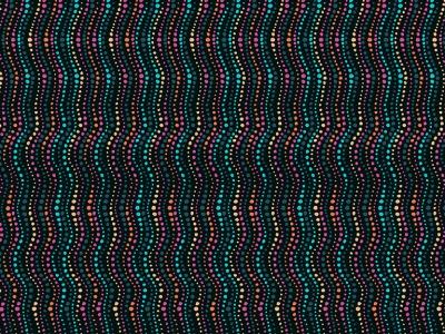 05m BW Wellen Streifen schwarz türkis