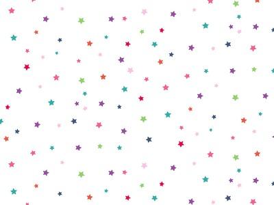 05m BW Daydream Sterne weiß bunt