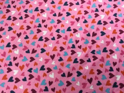 05m Jersey Herzen Rosa Pink bunt