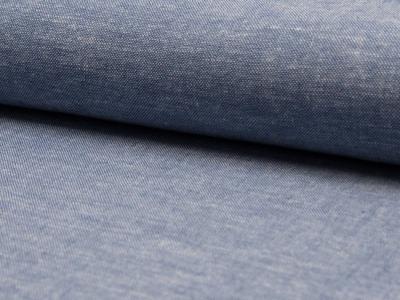 05m Leinen Viskose meliert blau weiß