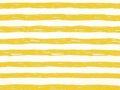 05m Jersey Unregelmäßige Streifen weiß senf