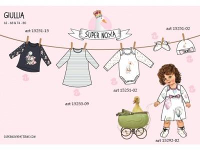1Stk GIULLIA Kinderkleidung Set für Mädchen