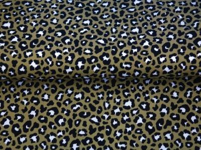 05m BW Leoprint kleines Muster oliv