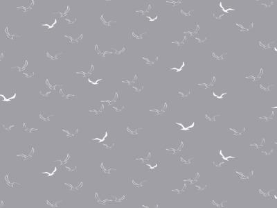 05m Baumwolle Möwen Maritim grau weiß