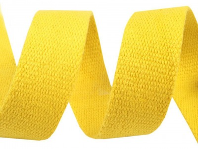 1m Gurtband Baumwolle 3cm breit zitronen
