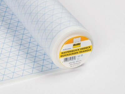 1m Rasterquick Dreiecke Vlieseline weiß