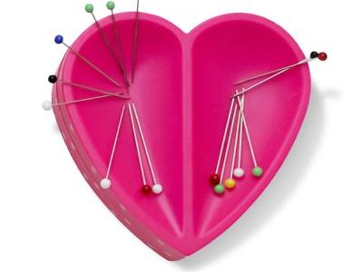 Prym Love Magnet Nadelkissen Herz pink
