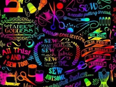 025m Baumwolle Timeless Treasures Stoffgöttin Rainbow