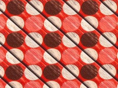 05m Jersey Holz Kreise rot braun