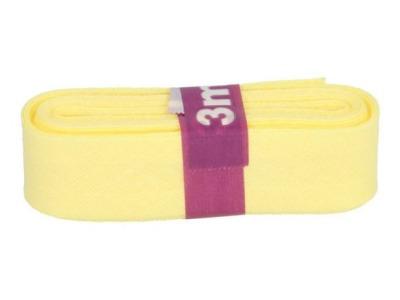 3m Baumwollschrägband uni 2cm breit vanille