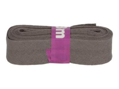 3m Baumwollschrägband uni 2cm breit dunkelgrau