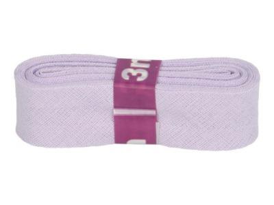 3m Baumwollschrägband uni 2cm breit flieder