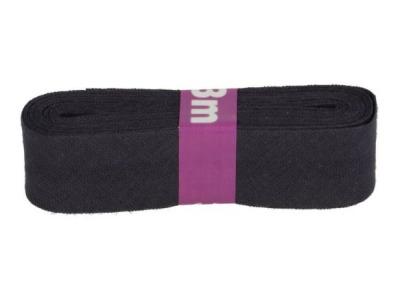 3m Baumwollschrägband uni 2cm breit navy