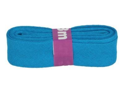 3m Baumwollschrägband uni 2cm breit türkis