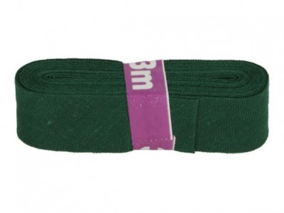 3m Baumwollschrägband uni 2cm breit dunkelgrün