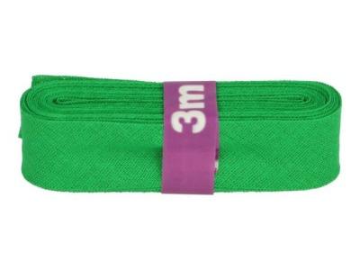 3m Baumwollschrägband uni 2cm breit gras