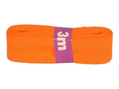 3m Baumwollschrägband uni 2cm breit orange