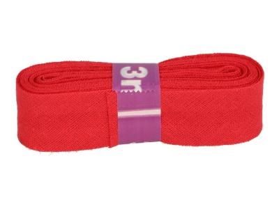 3m Baumwollschrägband uni 2cm breit rot