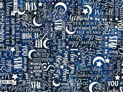 025m Baumwolle Timeless Treasures Stars Text