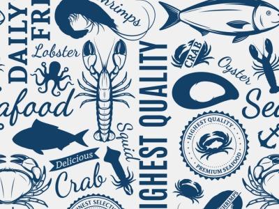 05m BW Canvas Seafood Maritim weiß