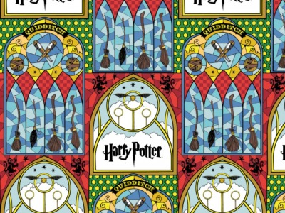 05m Baumwolle Harry Potter Stained Glass